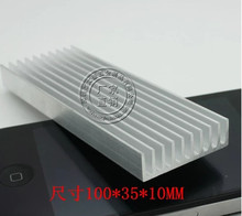 Fast Free shipping 2pcs/lot Aluminum radiator 100*35*10MM electronic radiator heatsink