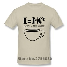 Funny The Big Bang Theory T Shirt Premium Designer Short Sleeve Physics Science E=MC2 T-shirt Comical Albert Einstein Math Shirt(China)