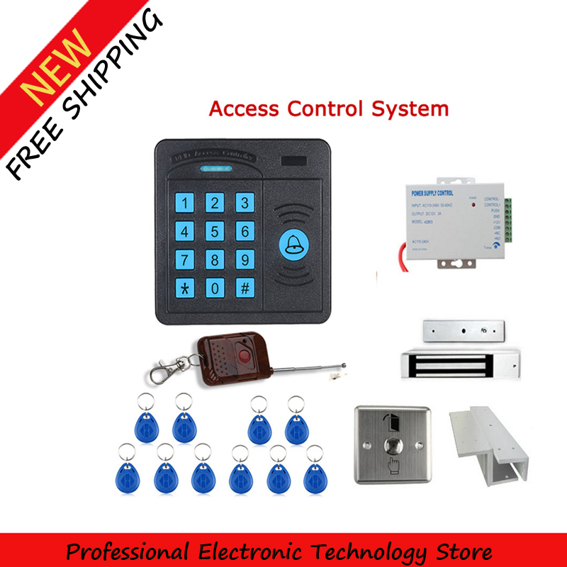 Door Access Control Controller 10 ID cards Magnetic Lock ABS Case RFID Reader Keypad Remote Control<br><br>Aliexpress