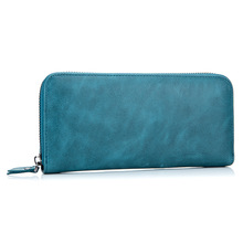 2017 fashion Europe and America Casual fashion Simple zip women wallet Long wallet luxury genuine leather clutch bag(China)