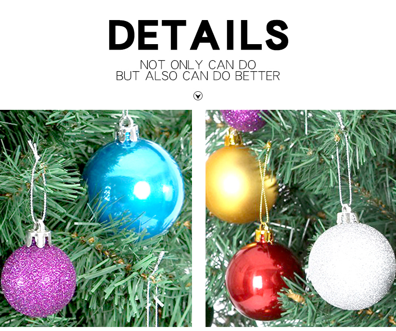 09 inhoo 24PCSset Christmas ornament 468cm Christmas Tree Balls Baubles Xmas for Home Party Colorful Wedding Decoration Supplies