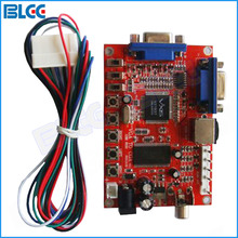 VGA to CGA CVBS S-Video Arcade Games Converter Board Video Game Converter with Wire Harness for CRT Monitor