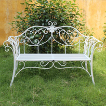 Metal iron manufacturers double chair iron outdoor double chair outdoor leisure chair metal garden park bench(China)
