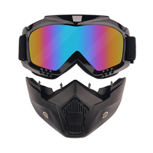 Motor-Cycle Goggles Mask Detachable, Helmet Sunglasses Protect Padding, Road Racing UV Glasses