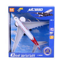 18cm Alloy Airplane Model Vehicles Kids Children Airliner Passenger Plane Toy Gift Pull Back Flashing Music Kids Aircraft Toy(China)