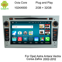 HD 1024X600 Octa Core 8 Android 6.0.1 Car DVD Player For Opel Corsa Vectra C D Meriva Vivaro Tigra Signum Radio GPS Navigation