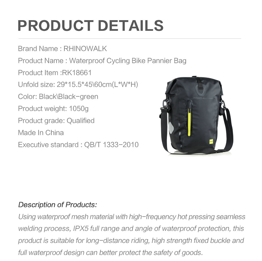 Waterproof cycling bike pannier bag (18)