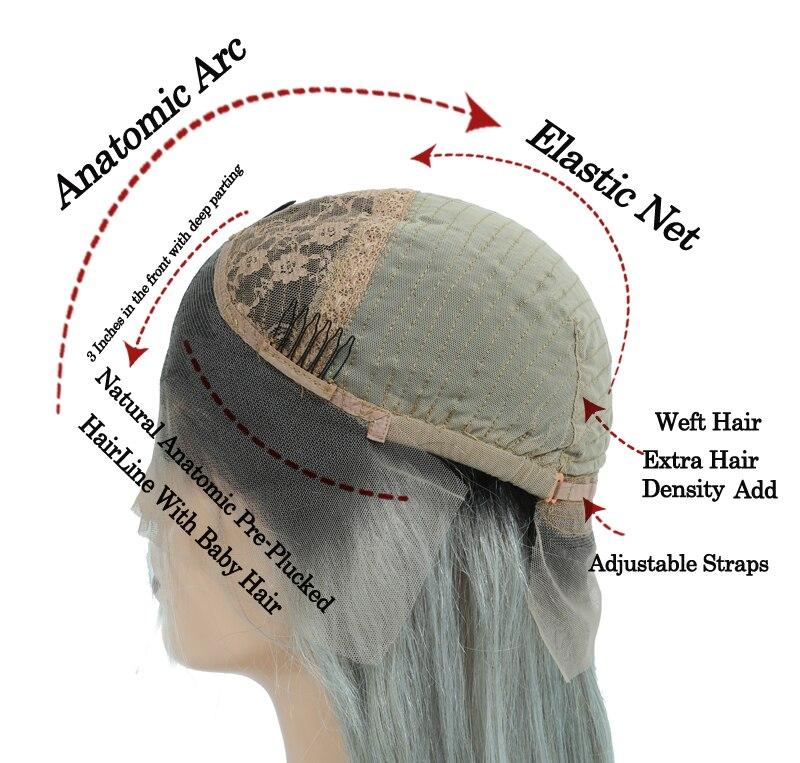 grey wig cap