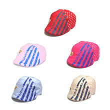 2016 Fashion New Baby Boys Kids Cotton Hat Toddler Cap Fedora Sun Hat Peak Cap Visors for 1-3 years Baby Boys Girls 5 Colors