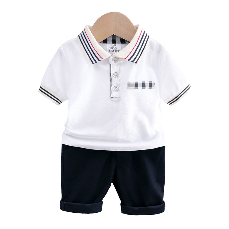 summer kid boys clothes white short sleeve T shirt+shorts blue 2019 children toddler boy clothing sets kids outfits casual 2-6Y