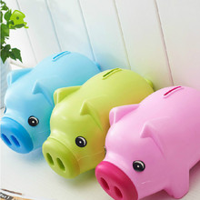 Special Offer Cartoon Piggy Saving Plastic Cartoon Figures Piggy Bank Money Box  Cute Children Couple Gift Ornaments