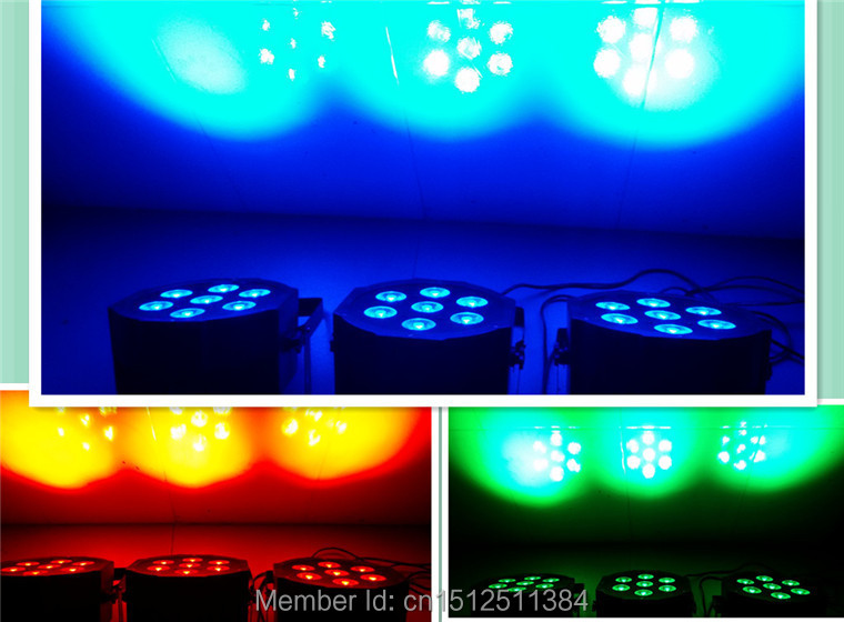 2pcs/lot Fast Shipping LED Par Can Wash Light RGB Color Mixing SlimPar Tri 7 With 3/7 Channels DJ Equipments Without The Fans<br><br>Aliexpress