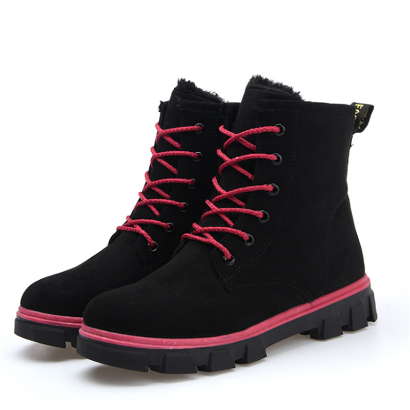 Women warm winter snow shoes casual slip rubber bottom Martin boots thick padded winter woman<br><br>Aliexpress