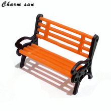 Resin Crafts Park Bench Modeling Model Home Accessories Decoration Home Decorative Handicrafts Miniature Model