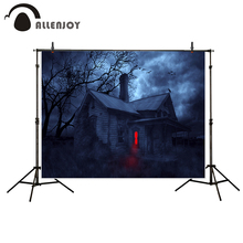 Allenjoy photography background Gloomy horrible house Red light Halloween theme backdrop photo studio camera fotografica
