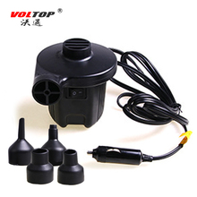 VOLTOP 12V Car Inflatable Pump Electric Inflator Air Pump Air Bed Boat Lifebuoy Barrel Camping Cigarette Lighter Plug Compressor
