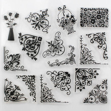 CCINEE Promotions One Sheet Transparent Stamp Flower Vine DIY Scrapbooking/Card Making/Christmas Decoration Supplies