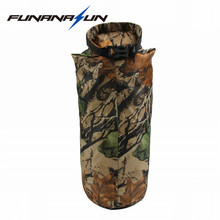 8L Outdoor Dry Bag Swimming Bag Foldable Easy Carry Pouch Waterproof Drifting Floating Camoflage Bag(China)
