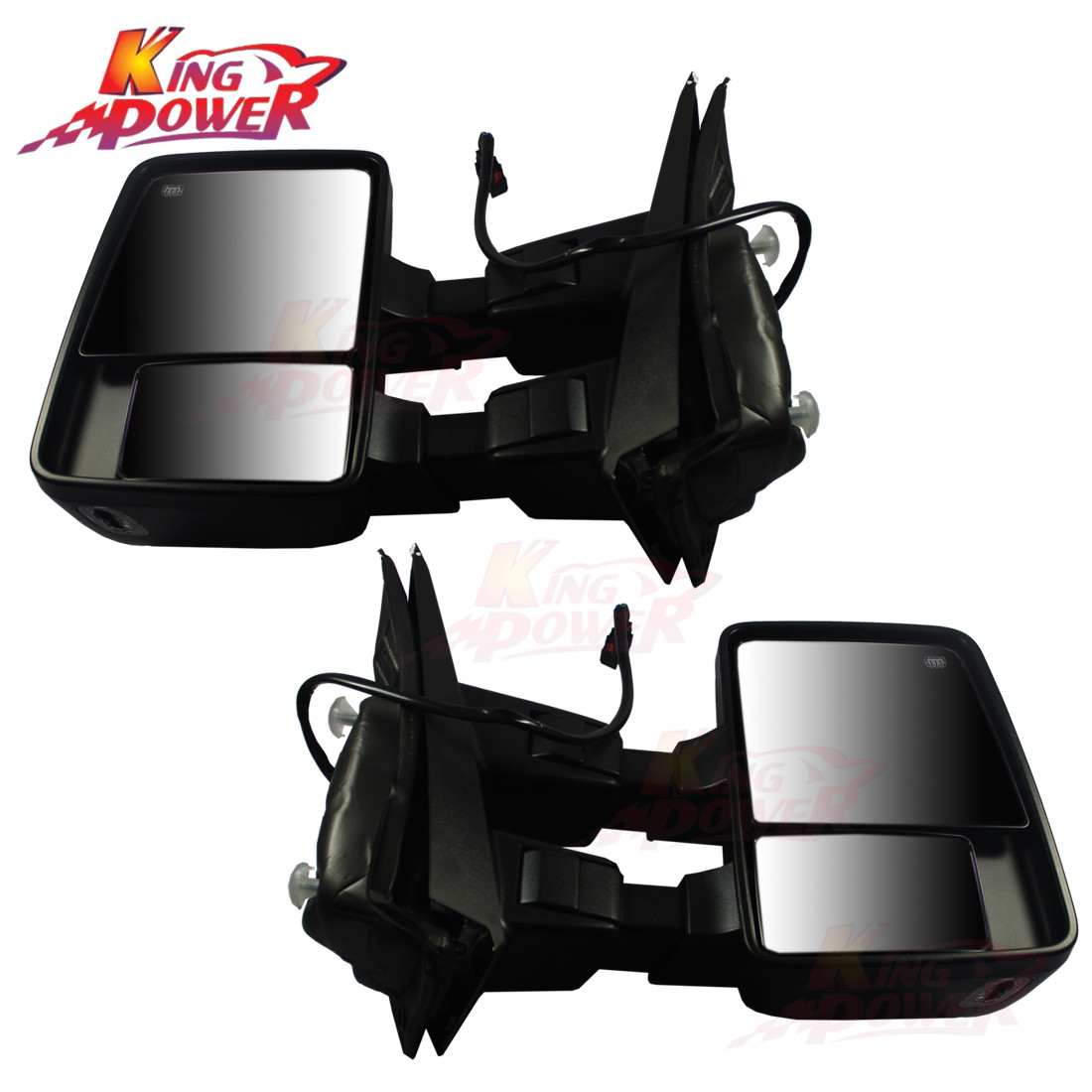 For 04-06 Ford F150 Yellow Signal Heated Power Tow Mirrors Pair Lh Rh Set 2P