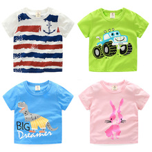 22 Pattern Boys Summer T-shirts 100% Cotton Fashion Design Good Quality boy girl children Clothes t shirt 3 to 8 years old  jh-0