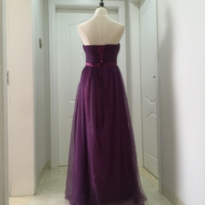 SOCCI Weekend Strapless Purple Long Evening Dress Charming Tulle Burgundy Evening Gown Formal Wedding Reception Vestido de Longo 17