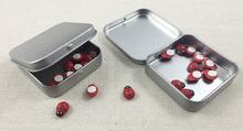 12 pcs/lot SURVIVAL KIT TIN HINGED LID Silver Color  Metal Storage Bit Box Mini box