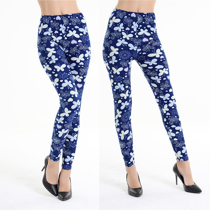 Dasbayla 17 Women Print Fashion Leggings Low Waist Thin stretch Ankle Skinny Pants Sexy Slim Ladies leggings Female 02 42
