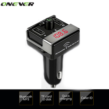 Bluetooth Car Kit Handsfree Set FM Transmitter MP3 music Player 5V 4.1A Dual USB Car Charger Support Micro SD TF Slot