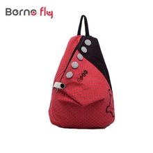 Women Cute Casual Bags Fashion Girls ladies Backpack Contrast Polka Dot Button Decoration Canvas Shoulder Bag Khaki with Red Dot