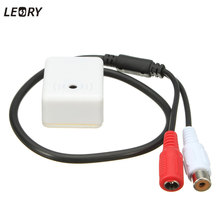 LEORY High Sensitive Mini Audio Mic Microphone Sound Monitor For CCTV Security IP Camera Pick up Device CCTV Accessories(China)