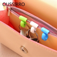 2X Novelty Home Plastic Mini Cute Creative Anti-lost Hook Bag Key Hanger Storage Holder Rack Organizer(China)
