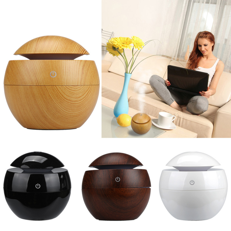 Top Grand Wood Grain Aromatherapy Essential Oil Diffuser LED Lights Ultrasonic Cool Mist Aroma Air Humidifier for Office Home