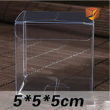 Wholesale 5*5*5cm Clear PVC Box 200Pcs/Lot Packing Birthday Gift Wedding Favor Chocolate Candy Apple Event Transparent Box/Case