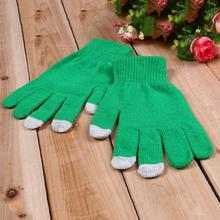 Fashion Unisex Screen Gloves Ladies Womens Winter Autumn keep Warm Mittens Use Device(China)