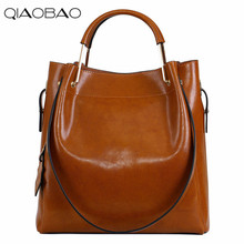 QIAOBAO New Fashion Cowhide Women Messenger Bags Genuine Leather Female Cross Body Bag Casual Women Shopping Totes(China)