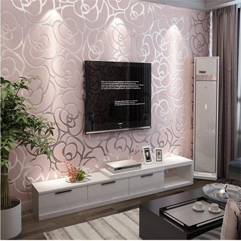 beibehang  Non wovens Wallpaper Romantic Rose Warm Wedding Room Bedroom Living Room TV Background Wallpaper papel de parede<br>