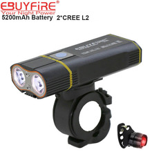 Fahrradlicht Bike Bicycle Light Cycling Lights 2x XML-L2 LED 5200mAh USB Rechargeable bicicleta Wheel Bike Front Light(China)