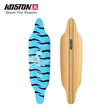 KOSTON Professional Longboard Decks Fish Shape Board Long City Cruising Skateboard Decks 38.5 Inch 8ply Canada Maple Pressed(China)