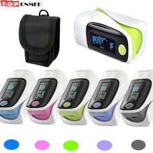 Pulse Oximeter Pulsioximetro SPO2 PR 2 Parameters Alarm+Beep OLED Display Blood Oxygen Monitor+Carrier Case/Rubber Case