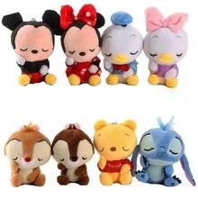 Disney 12 cm Mickey Minnie Mouse juguetes de peluche muñeca Winnie Bear  ardilla bolsa ornamento llavero 8fbb587a2fd
