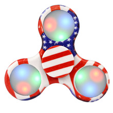 1pc Camouflage LED Flash Light Spinner Fingertip Gyro Toys Spinner Hand Hand Finger For EDC ADHD Autism Anti Stress Toys(China)