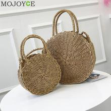 Buy Woven Straw Round Handbag Retro Rattan Women Shoulder Bag Boho Summer Beach Messenger Bags Fashion Designer Female Handbag Totes for $10.89 in AliExpress store