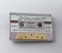 Luxury Men Belt Buckles Metal Music Magnetic Tape Belt Buckles SW-BY686 suitable for 4cm wideth belt with continous stock(China)