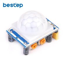 10PCS NEW PIR Sensor Human Body detecting module Pyroelectric HC-SR501 For Arduino MCU Freeshipping(China)