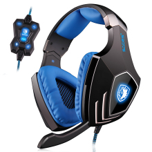 A60 7.1 Virtual Surround Sound Stereo USB Gaming Headphone Headset With Physical Vibration Retractable Microphone
