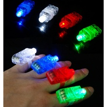 LED Light Lamp Beams Torch Bright Laser Finger Ring For Party KTV Bar Gift Party Supplies Rings for women men 5(China)