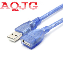30cm Blue USB 2.0 Extension Male to Female Connector Cable for Mouse Keyboard Camera Computer Laptop Blue Wholesale