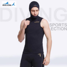 2MM Neoprene Short Sleeved Jumpsuit Men Wetsuit Scuba Dive Vest With Hood Cap Snorkeling Wet Suit Winter Swim Warm Surf Upstream