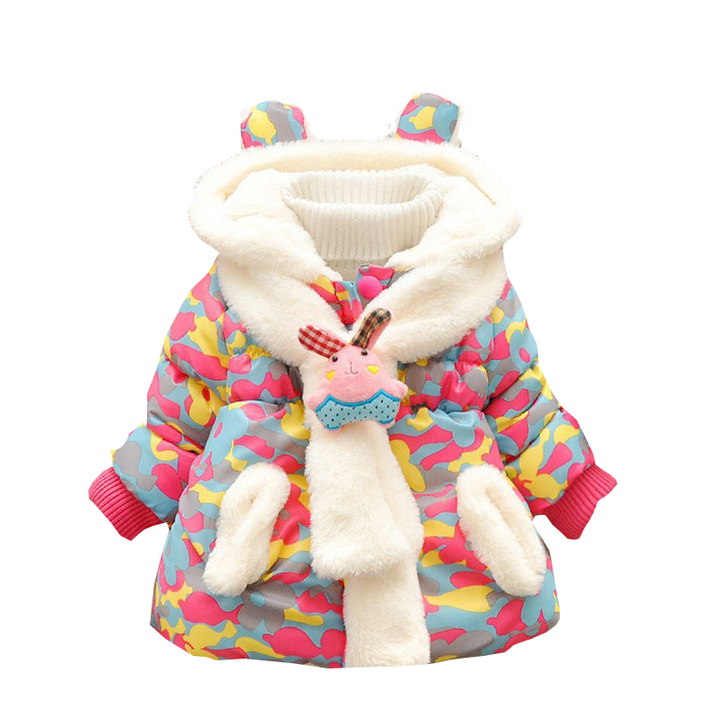 Children Outerwear Fashion Flower Warm Cotton Down Girl Winter Coat Kids Clothes Baby Girls Jackets For 1-5TОдежда и ак�е��уары<br><br><br>Aliexpress