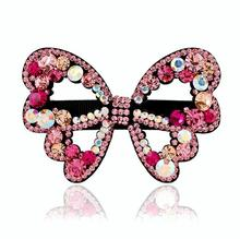 2017 New Fashion women hair clips Luxury hair accessories crystal hairbands colorful Rhinestone butterfly hairclips
